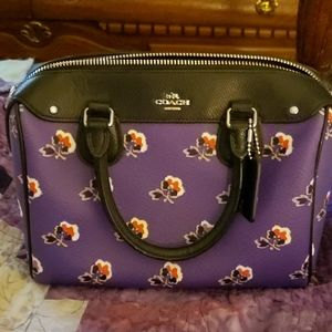 Genuine Purple Rose Coach Purse
